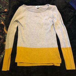 Gray & Mustard Sweater